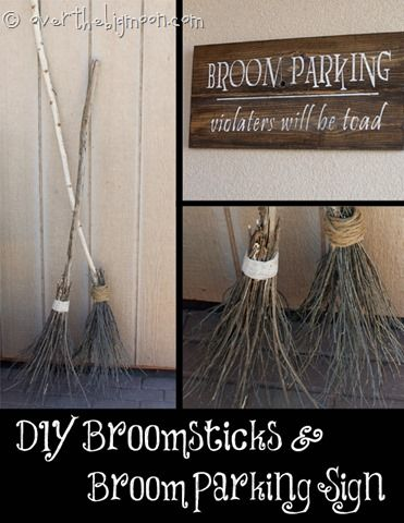 Make your own Witch Brooms and Halloween Signs Halloween - halloween decorations to make on your own