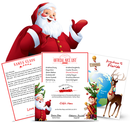 send your child an official letter package from santa santa