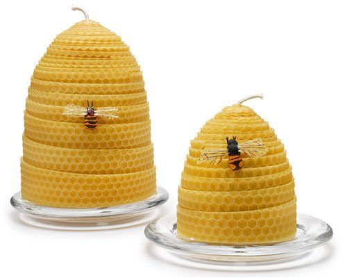 Kate Aspen Honey-Scented Beehive Candle, Sweet As Can Be