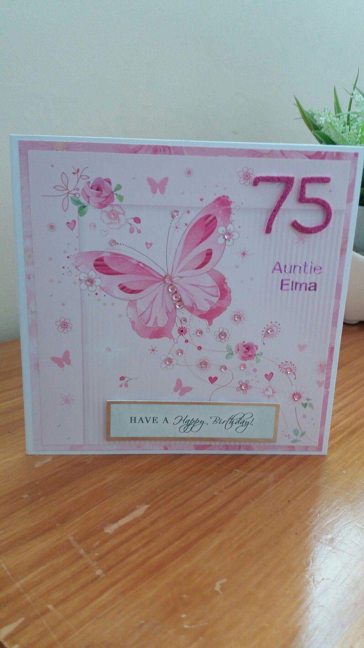 75th Birthday Card Cards Pinterest Cards