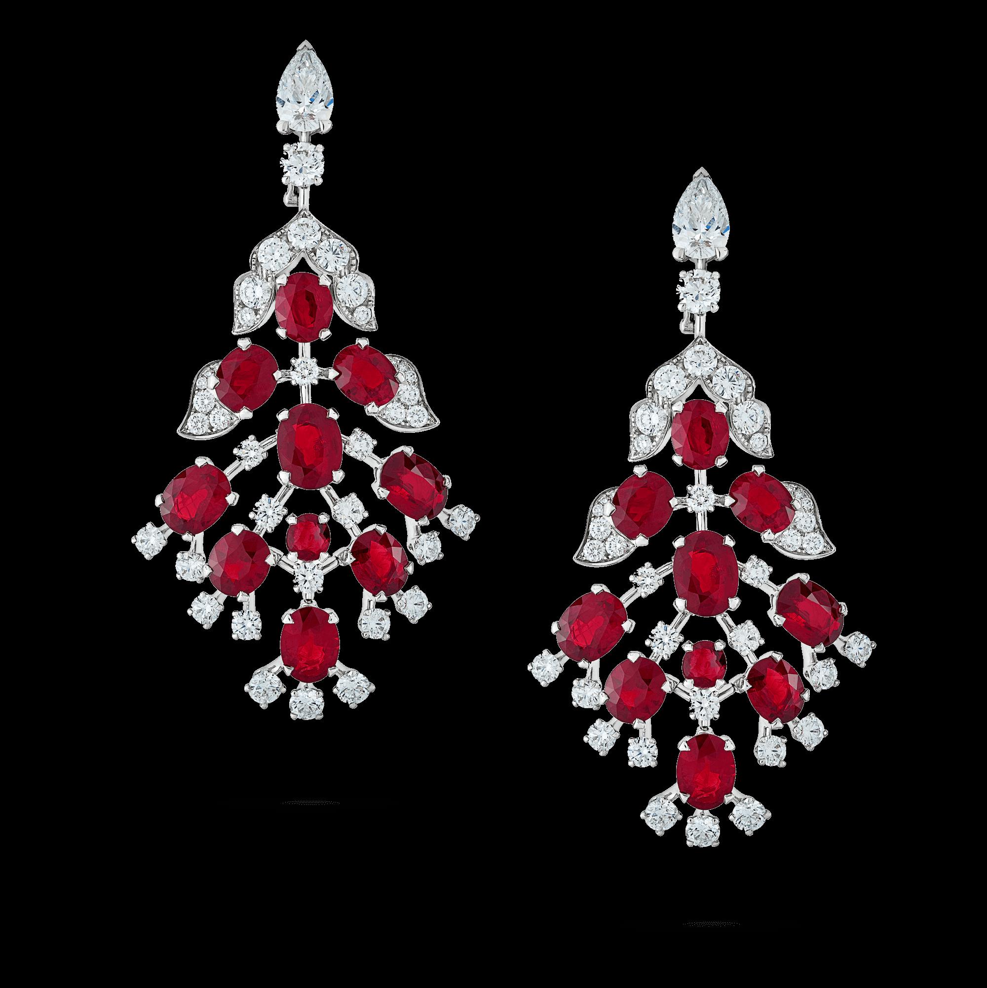 White Light Chandelier Earrings | Azlee Jewelry