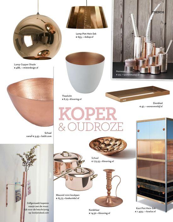 Koper en (oud) roze in de woonkamer - Gees | Pinterest - Koper ...