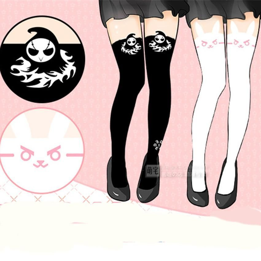 60f8a8c09 Overwatch Reaper Dva Thigh High Tights Stockings