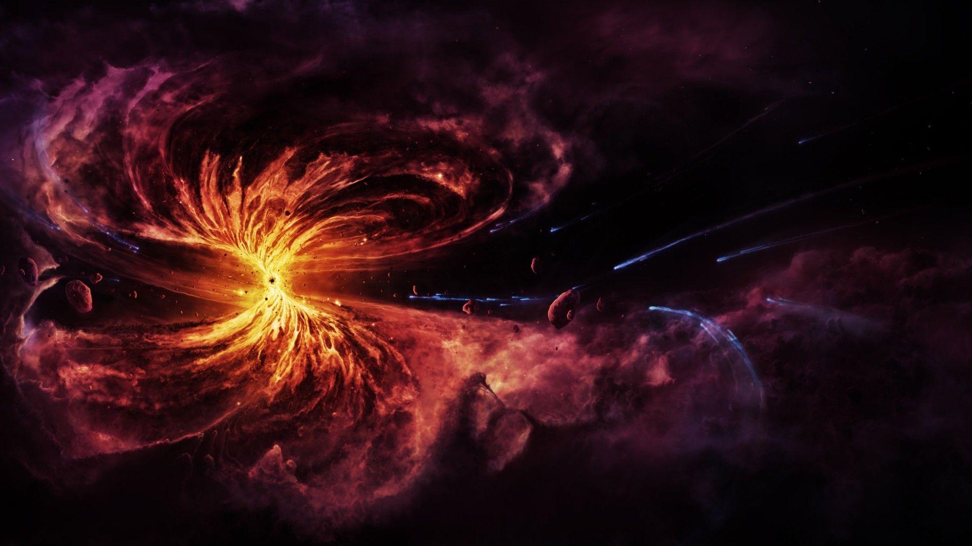 Quasar Black Hole Hd Wallpaper 1920x1080 Black Hole Wallpaper Black Hole Black Hole Sun