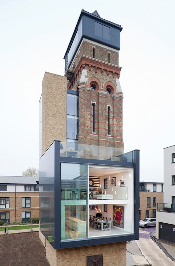 Architecture Design London water tower turned into a house in london | design | home | land