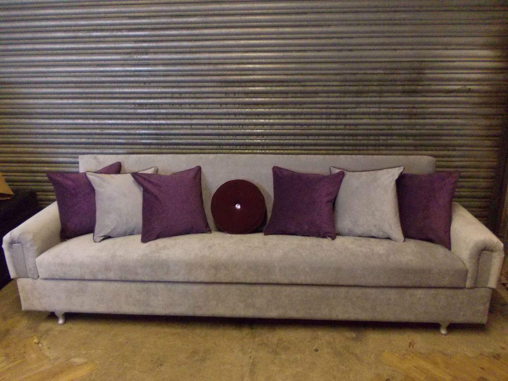Narrowboat silver grey sofa bed 4 5 seater storage 250cm