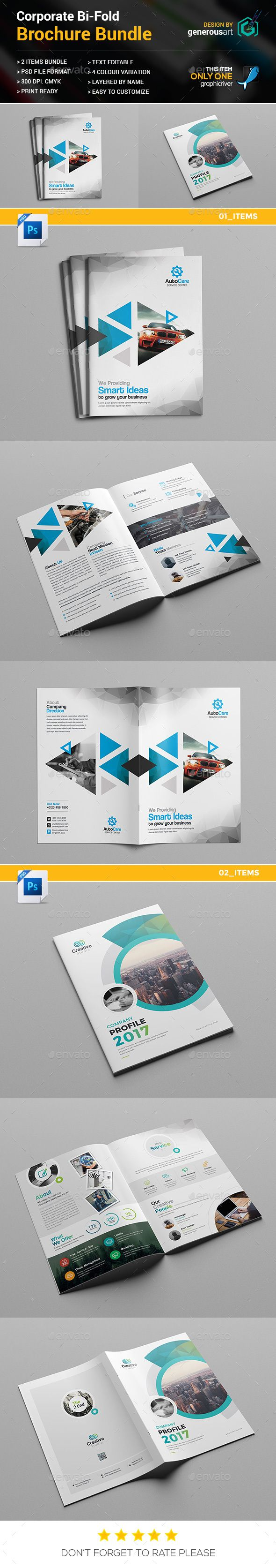 BiFold Brochure Bundle  In   Brochure Template Brochure Size