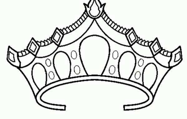Elsa Crown Coloring Page