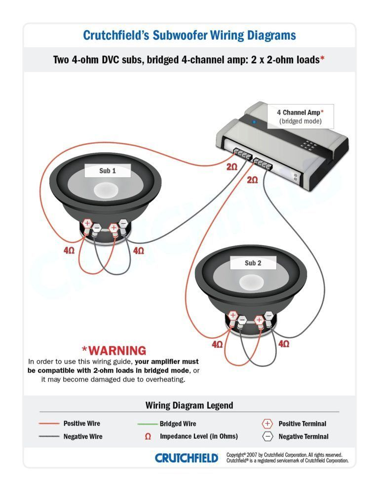 amplifier 2 channel 2ohm wiring diagram  tiburon stereo