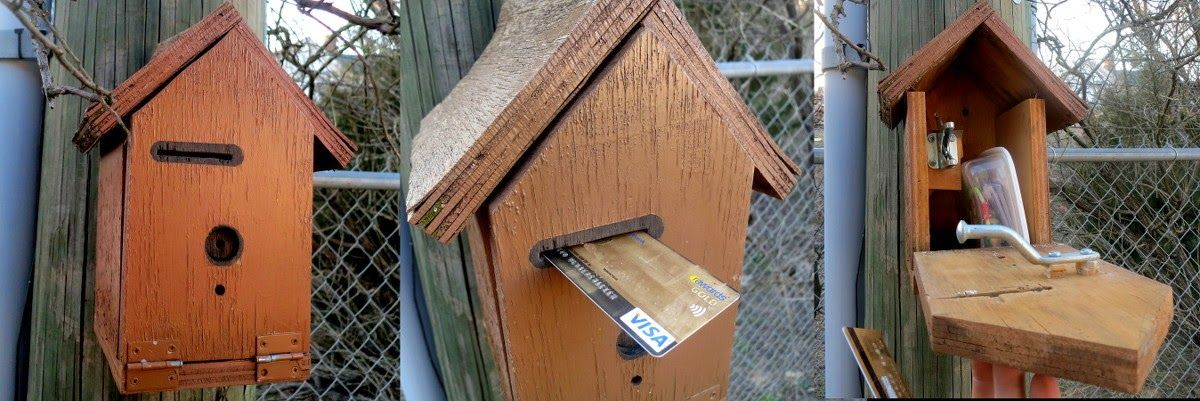 Credit Card Bird House Cache Geocaching Geocaching Kreativ