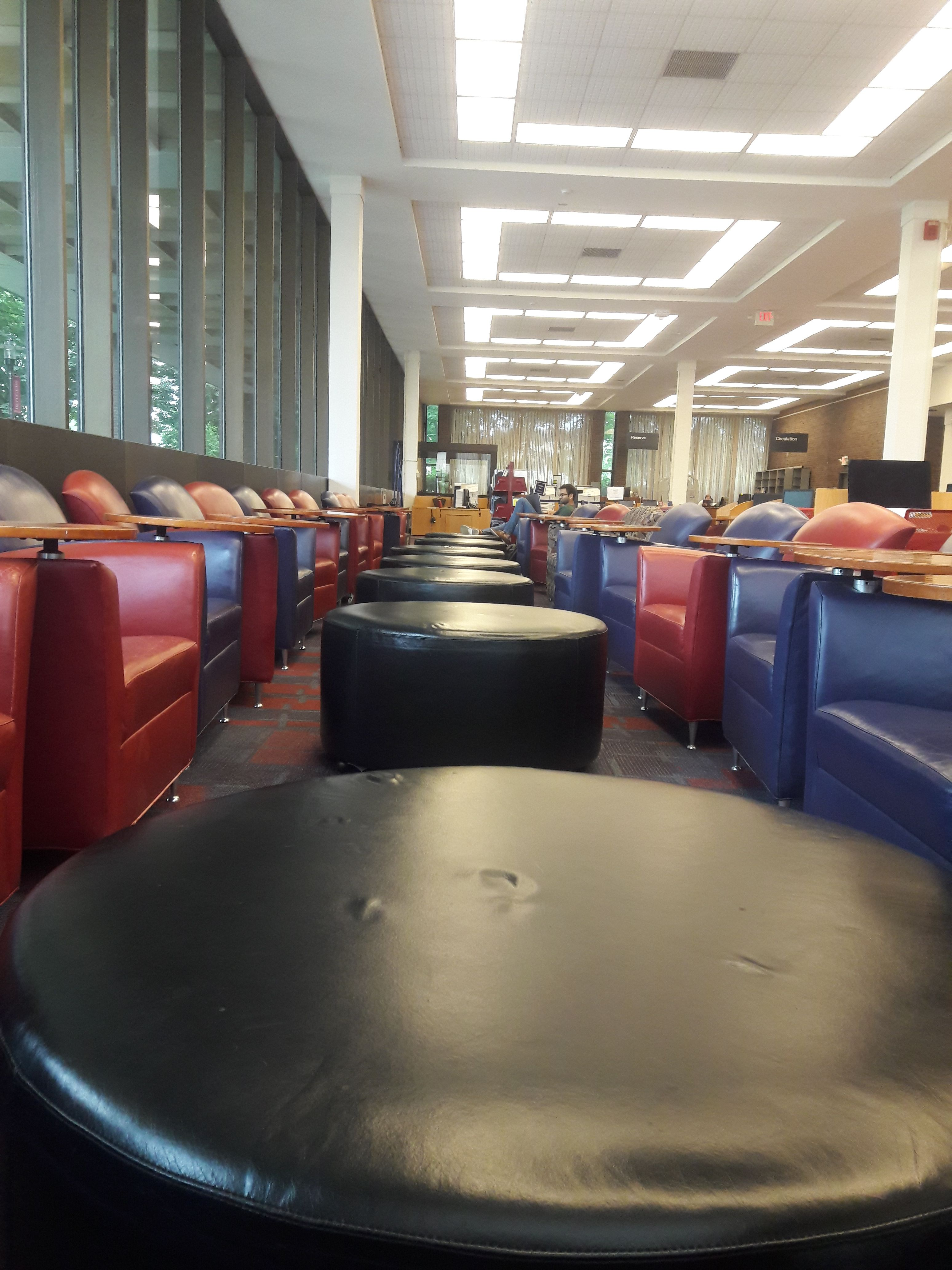 shhh...keep calm and follow!! Carr library, Rutgers