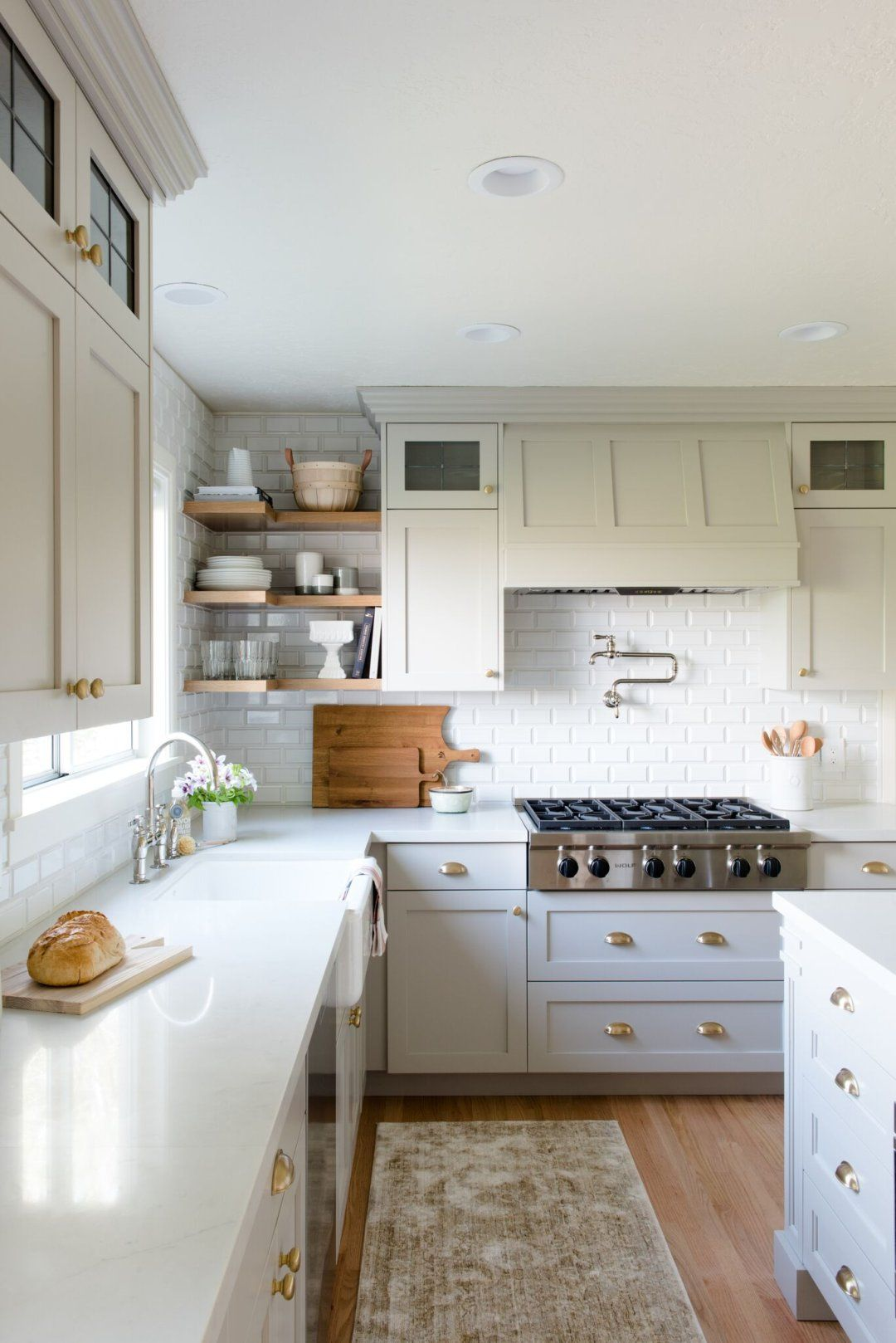 Evergreen kitchen remodel reveal light gray cabinets studio mcgee