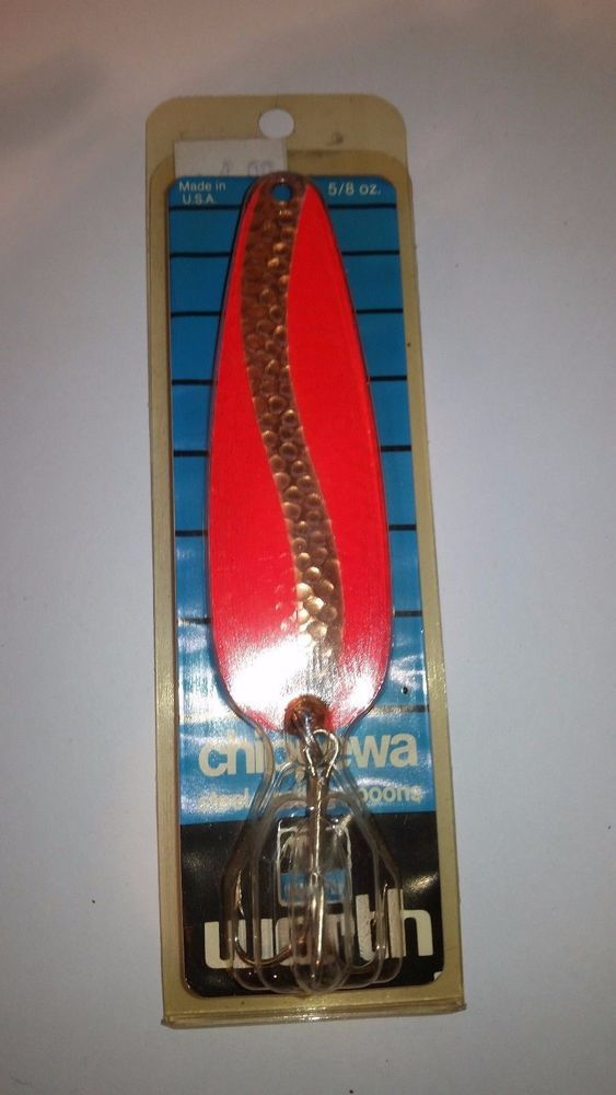 WORTH CHIPPEWA - STEEL CASTING SPOONS -1/2 OZ  IN ORIGINAL PACKAGE - NO RESERVE #WORTH