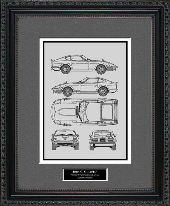 Nissan Blueprint Framed Art Car Auto Gift - Choose Your Model - Bniss Nissan Blueprint Framed Art Car Auto Gift - Choose Your Model - BNISS Black Things nissan x trail black color