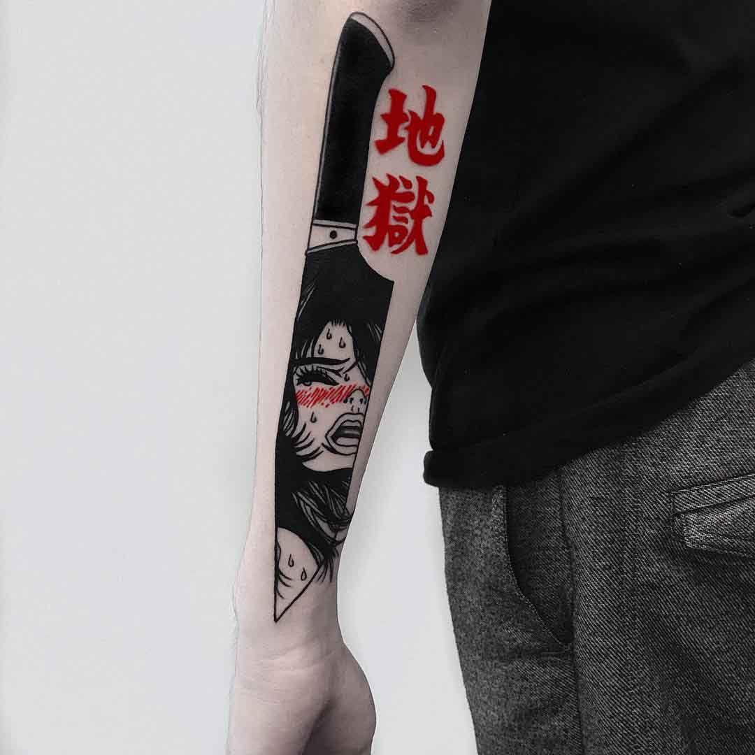 Knife Tattoo, Tattoo