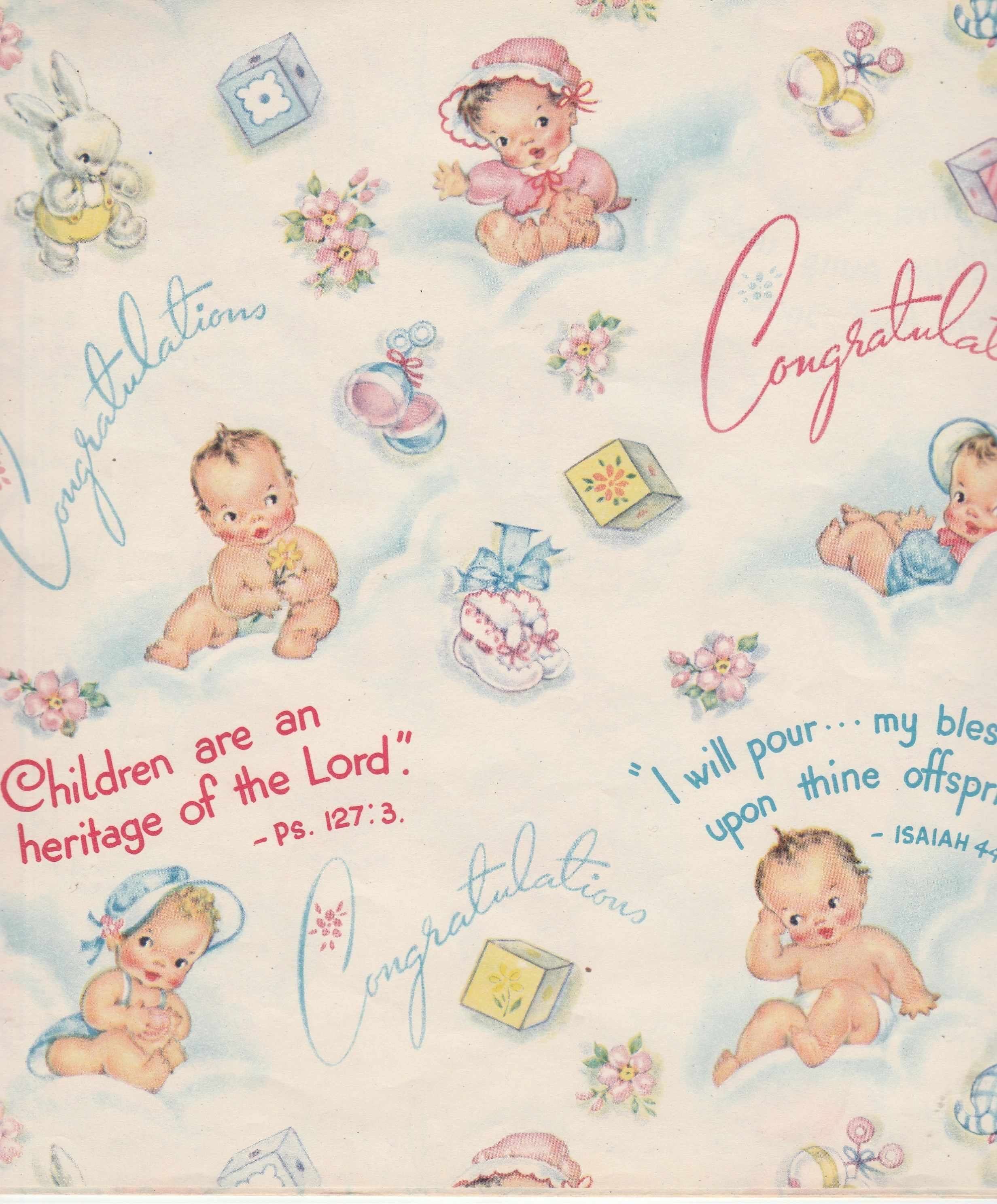 Vintage Baby Shower Wrapping Paper   Google Search