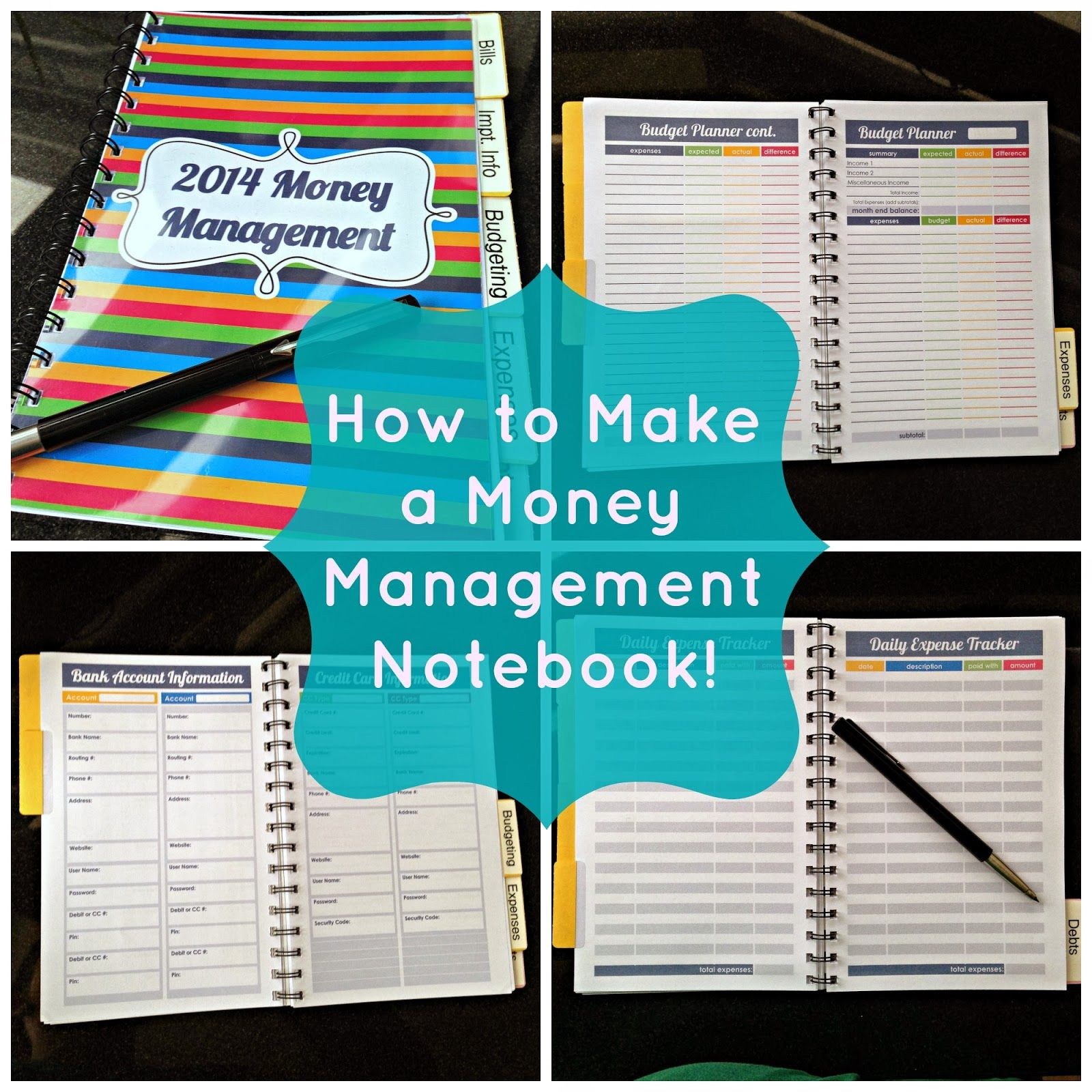 How to Make a Money Management Notebook (Fresh and