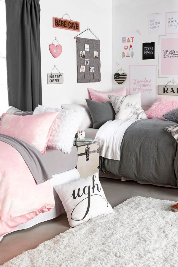 creative grey and millennial pink dorm room ideas image pink dorm rooms dorm room decor on grey and light pink bedroom decorating ideas id=31247