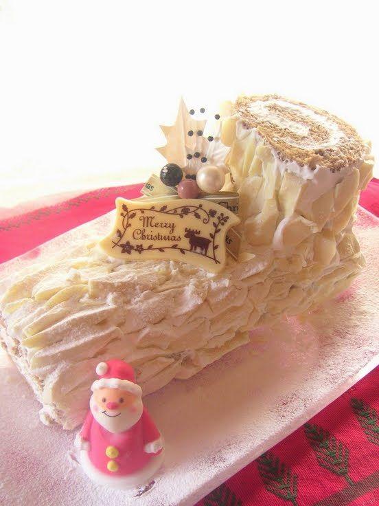Snowy White Bûche de Noël (Yule Log)   Recipe   Yule log ...