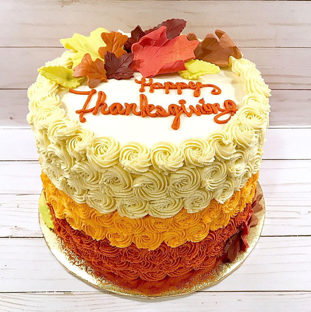 Happy Thanksgiving Nikijoycakes Buttercream Cake