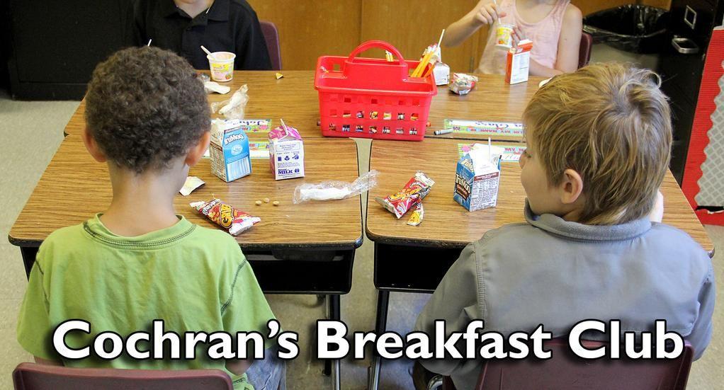 This year, fourth- and fifth-grade students are enjoying @CochranElem's Breakfast Club. http://goo.gl/ESFGVU