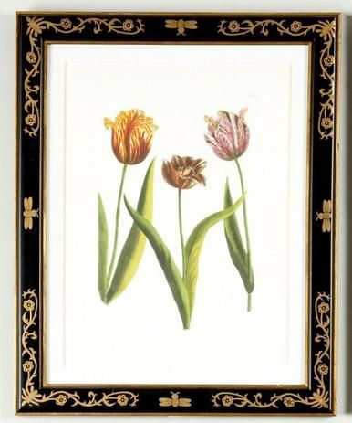 Lithograph Print Chelsea House Gold Decoration Black New Framed Ch 3567 Chelsea House Frame Decor Gold Decor
