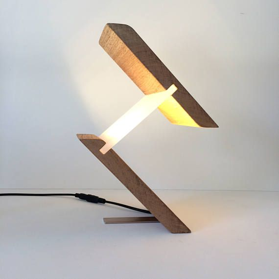 Modern Lamp Table Lamp Desk Light Home Office Unusual Abstract Etsy Wood Lamps Modern Table Lamp Wooden Lamp