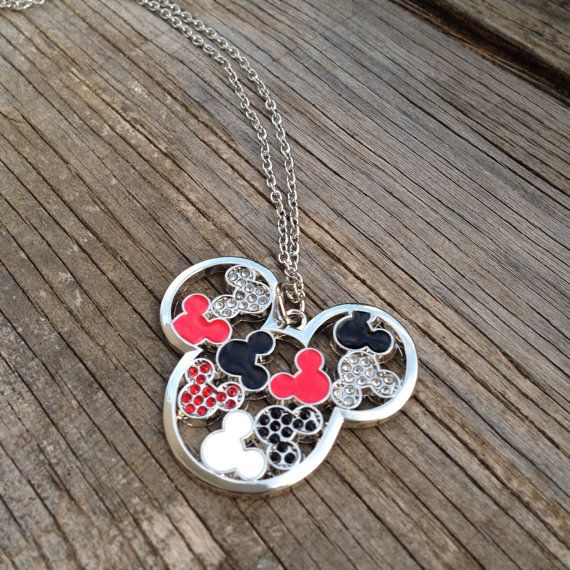mickey mouse necklace disney jewelry magic kingdom. Black Bedroom Furniture Sets. Home Design Ideas