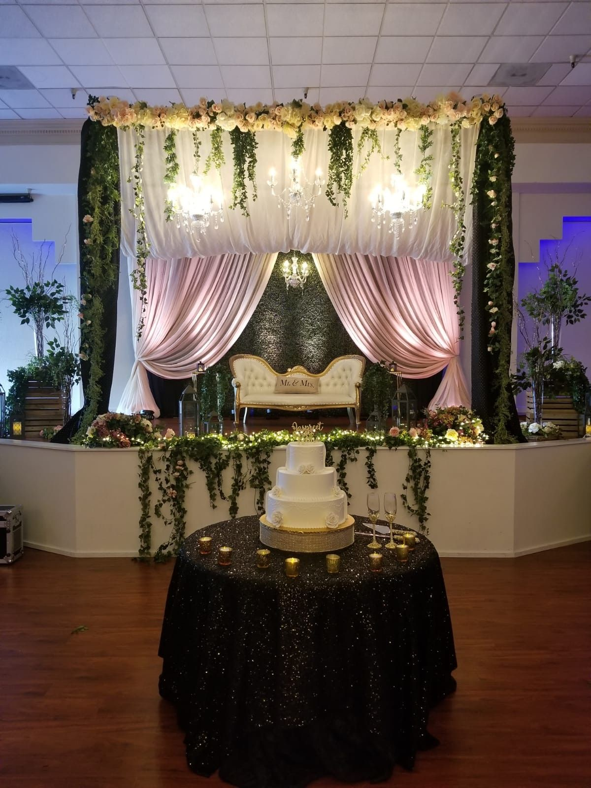 Wedding and reception event decorations indian inspired