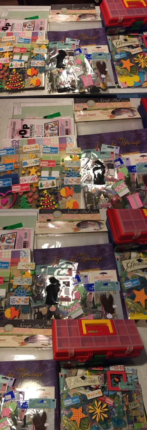 Mixed Lots 160736 Large Lot Of Scrapbooking Materials Books