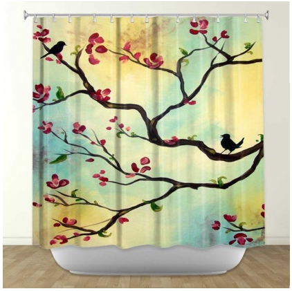 Curtains Ideas cloth shower curtain : 17 Best images about FLORAL SHOWER CURTAINS on Pinterest | Trees ...