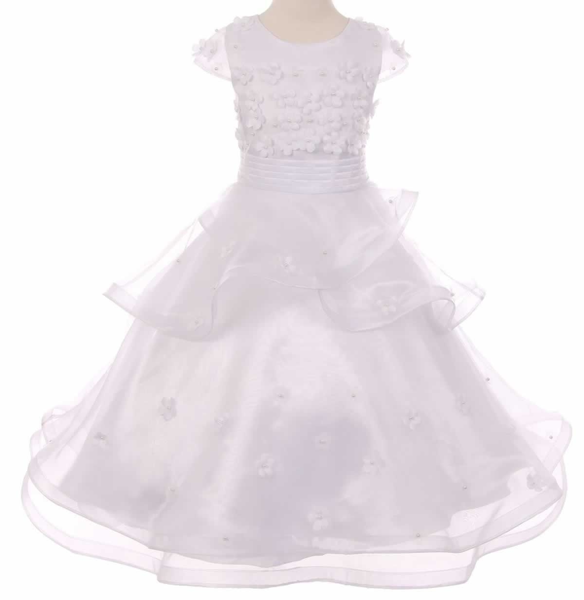 Shimmery white fairy dress for special occasions fairy dress