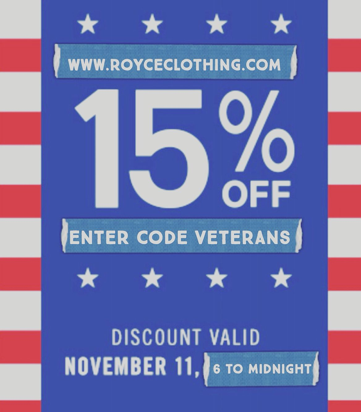 Happy Veterans Day 15% off starts now❗️#freeshipping #royceclothing