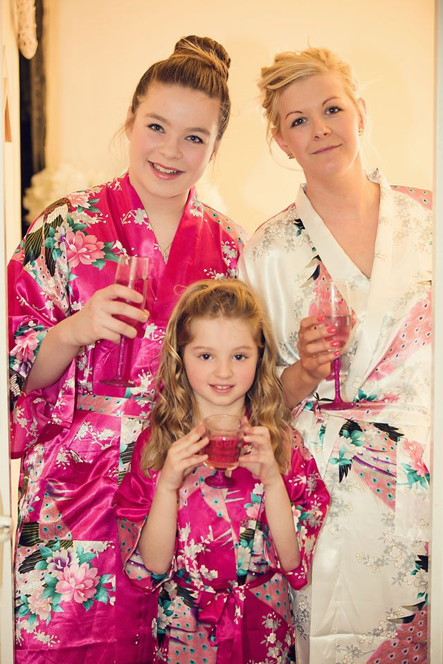These beautiful flower girl satin robes from The Little Lovebird are perfect  gifts The delicate satin material makes them ideal for wearing on the  morning ... 7acb02b02