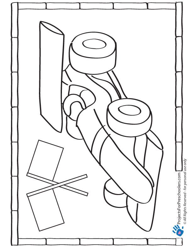 Race Car Coloring Page Race Car Coloring Pages Race Car Party