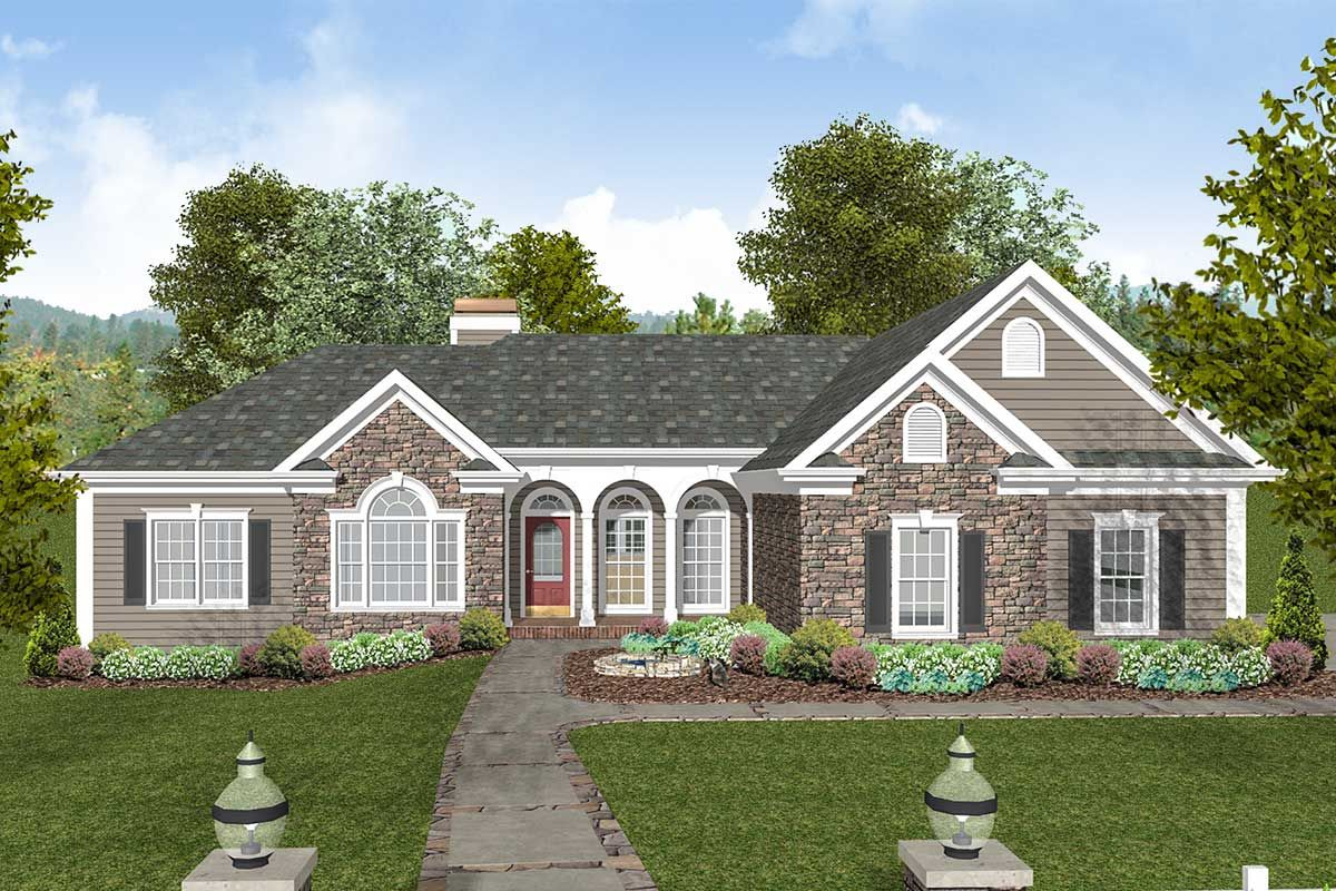 Plan 20066ga Traditional Home Plan With Exquisite Master Suite Craftsman House Plans Craftsman Style House Plans Traditional House Plans