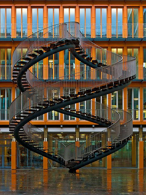 Escher-style stairs, Muenchen, Germany.