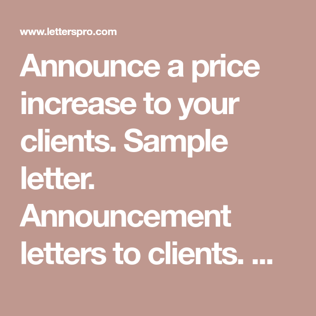 Sample Rate Increase Letter To Clients from i.pinimg.com