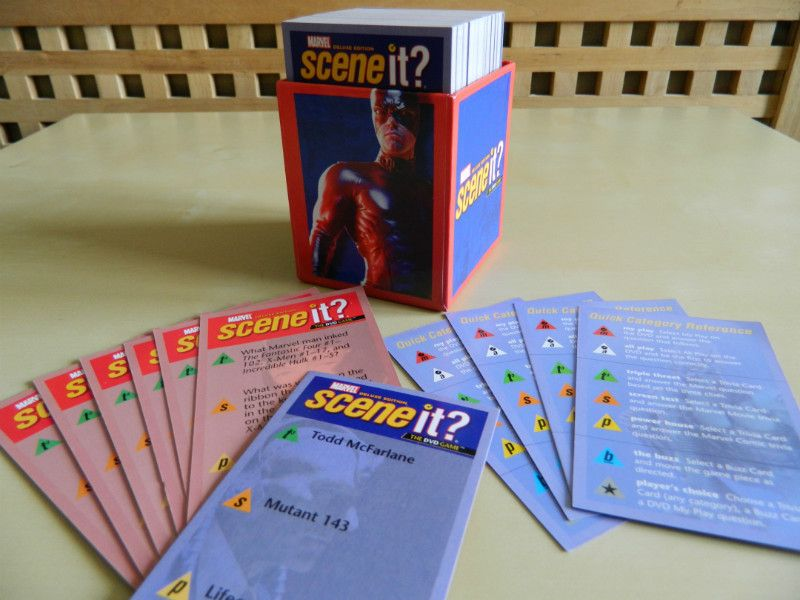 Marvel Scene It Deluxe Edition Game Cards, Crafts, Collage, Decoupage, Upcycling