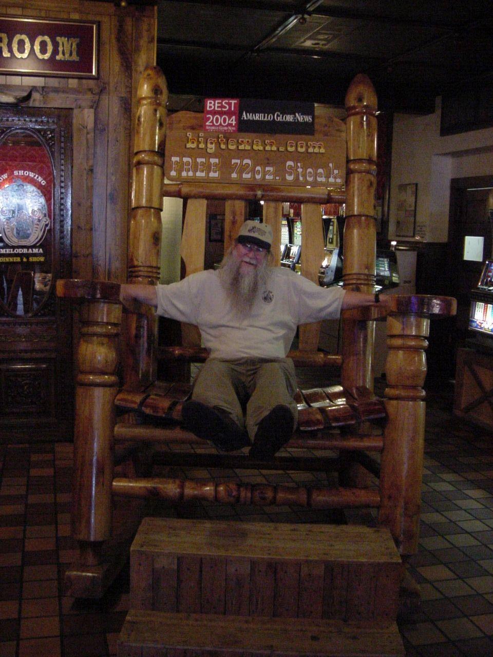 Outstanding The Worlds Largest Rocking Chair At The Big Texan Frankydiablos Diy Chair Ideas Frankydiabloscom