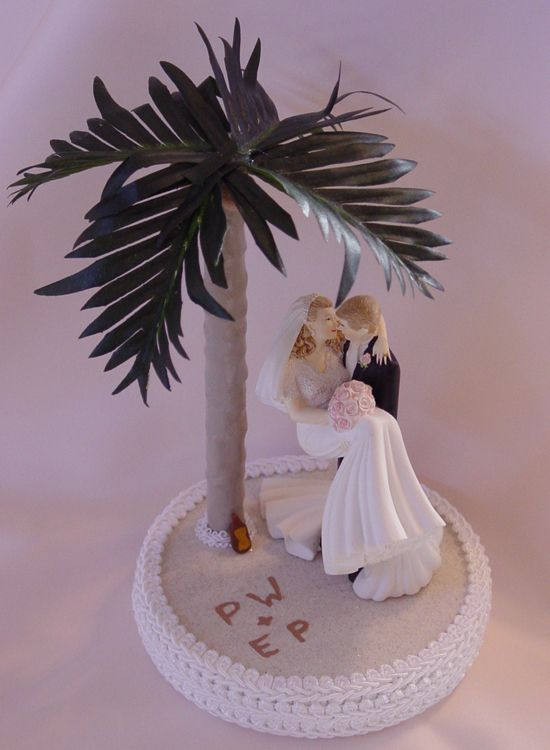 Superieur Beach Wedding Cake Toppers Bride And Groom