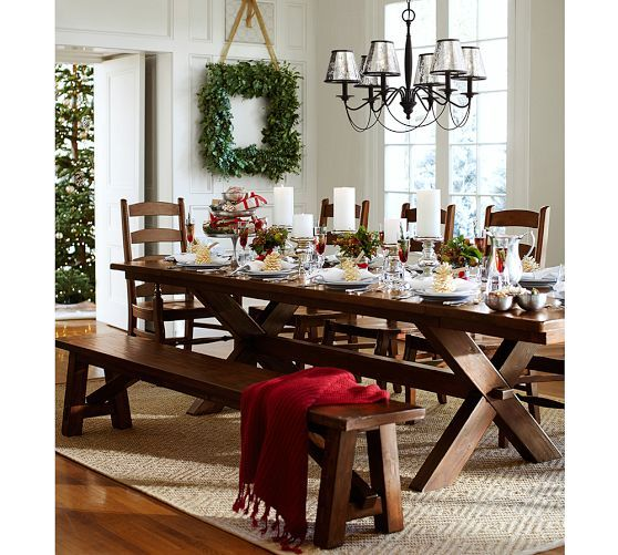 Toscana Extending Rectangular Dining Table  Pottery Barn It's Fair Dining Room Pottery Barn Design Decoration