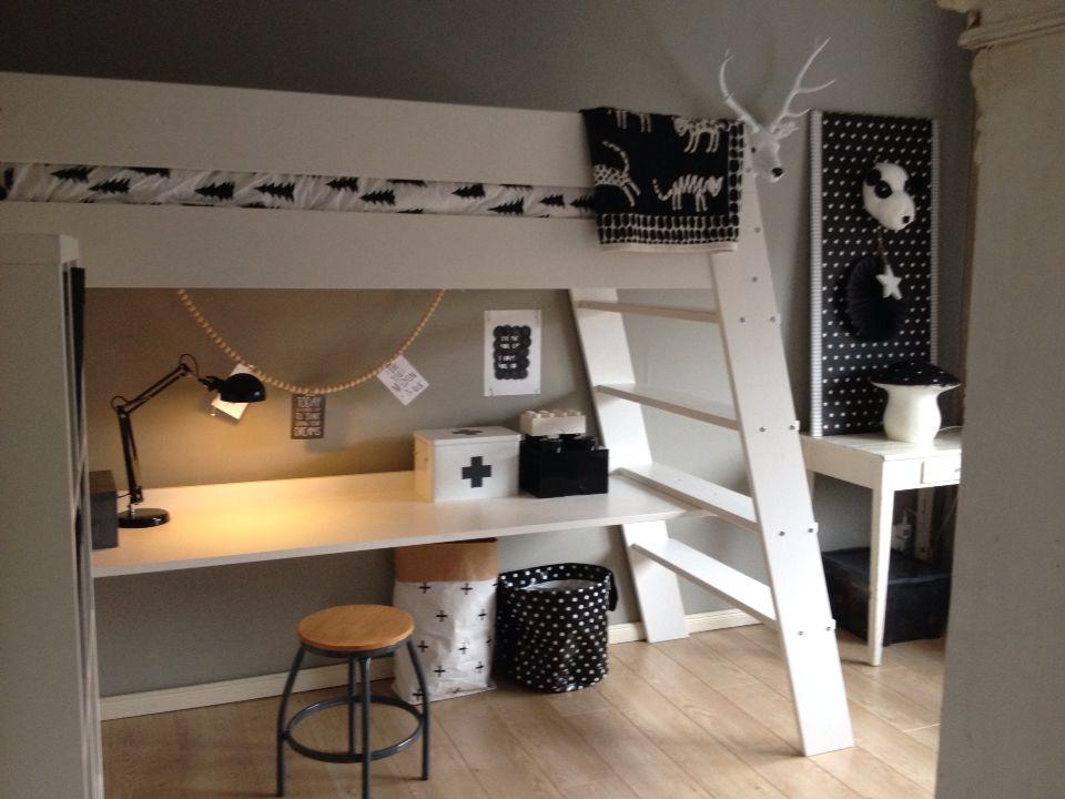 Slaapkamer Ideeen Hoogslaper : Ideeen kleine kinderkamer in bureau in slaapkamer top slaapkamer