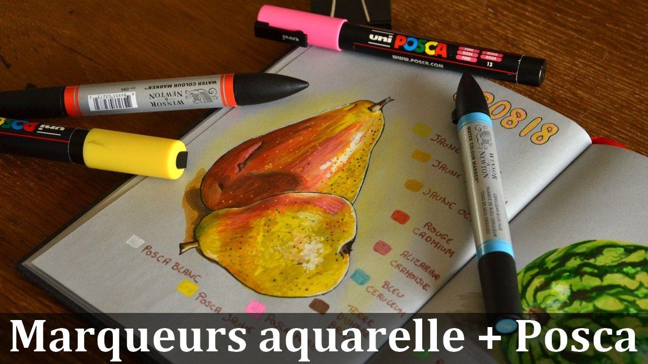 Utiliser Les Marqueurs Aquarellables Posca Marqueur Marqueur