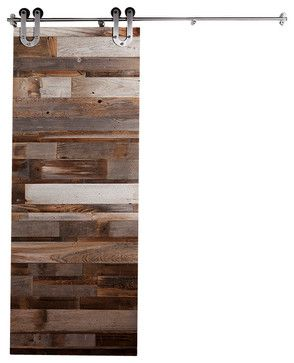 Reclaimed Wood Horizontal Slat Barn Door   7 Ft High X 3 Ft Wide   Rustic   Interior  Doors   Rustica Hardware