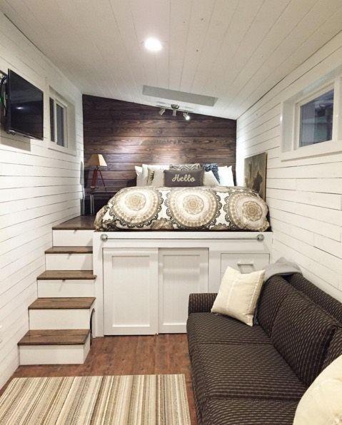 lo que dé el techo poner la cama alta sobre armario Interiors