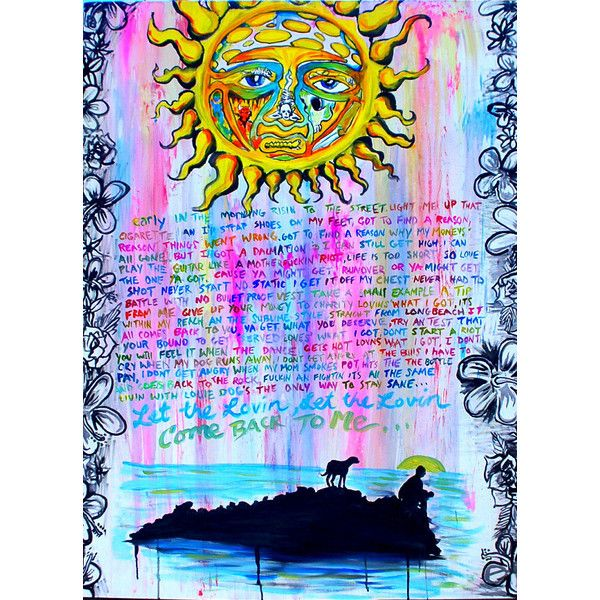 Sublime Art Badfish Painting 26 Liked On Polyvore Featuring