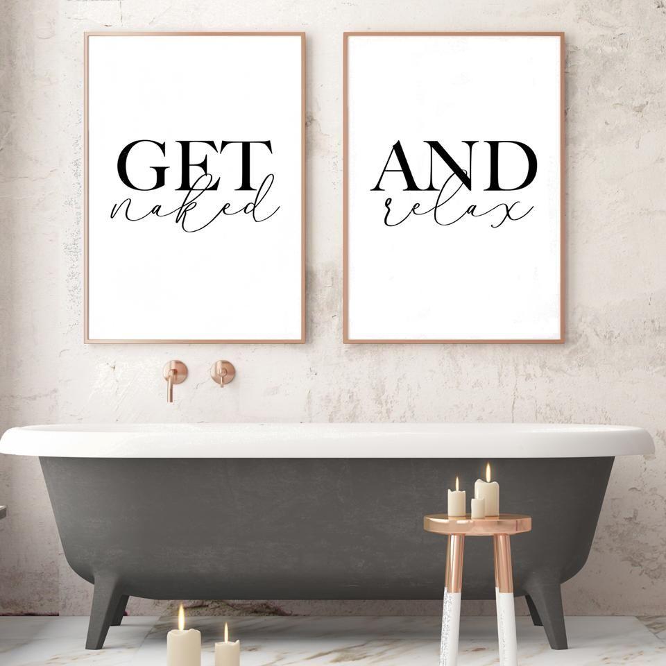 Get naked print PRINTABLE art Bathroom wall decor Bathroom