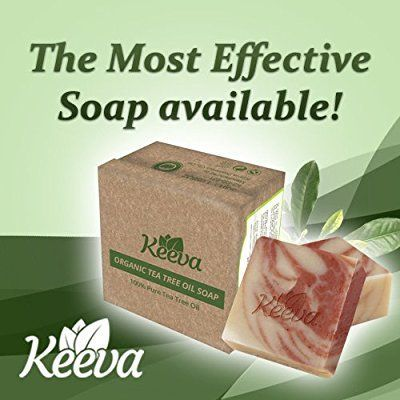 Amazon.com : Tea Tree Oil Soap Bar : Keeva Organics For Acne - 100% Natural  & Organic Face and Body Soap Clears Hormonal & Cystic Acne Scars and  blemishes.