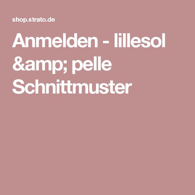 Anmelden  - lillesol & pelle Schnittmuster